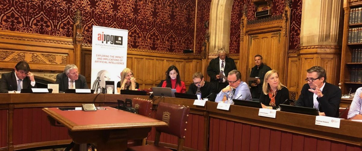 Speaking at the All Party Parliamentary Group on AI (APPG AI)